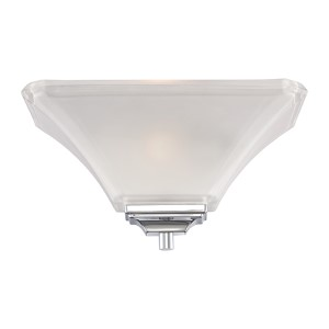 Parker Brushed Nickel One-Light Wall Sconce with Frosted Glass