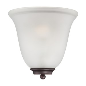 Empire Mahogany Bronze One-Light Wall Sconce with Frosted Glass