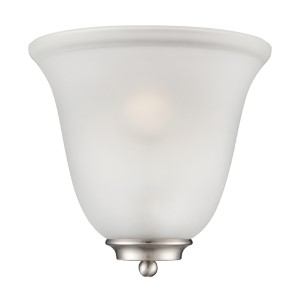 Empire Brushed Nickel One-Light Wall Sconce with Frosted Glass