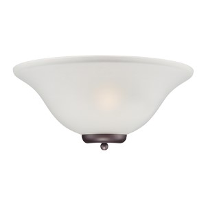 Ballerina Mahogany Bronze One-Light Wall Sconce with Frosted Glass