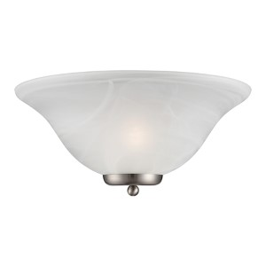 Ballerina Brushed Nickel One-Light Wall Sconce with Alabaster Glass