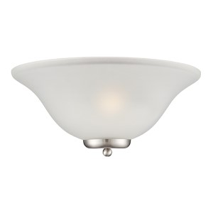 Ballerina Brushed Nickel One-Light Wall Sconce with Frosted Glass