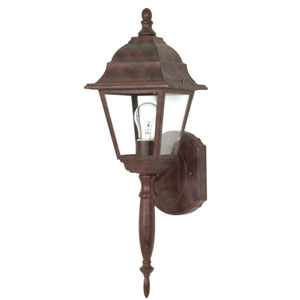 Briton Old Bronze One-Light Outdoor Wall Mount with Clear Glass