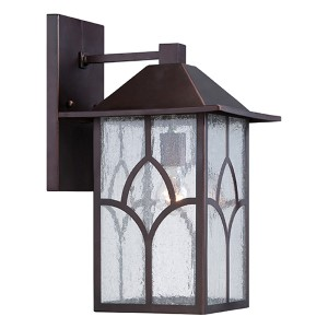 Stanton Claret Bronze One-Light 10-Inch Wide Outdoor Wall Sconce with Clear Seeded Glass
