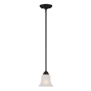 Elizabeth Sudbury Bronze One-Light Mini Pendant with Frosted Glass