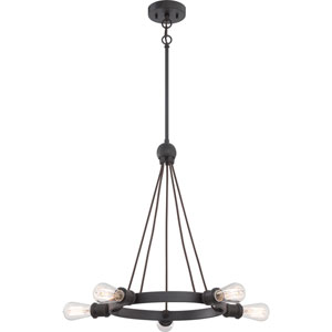 Paxton Aged Bronze Five-Light Chandelier