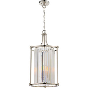 Krys Polished Nickel Four-Light Chandelier