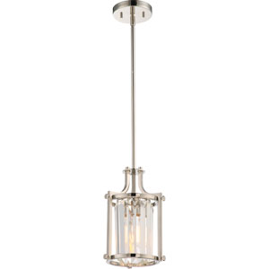 Krys Polished Nickel One-Light Mini Pendant