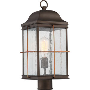 Howell Bronze with Copper Accents One-Light Outdoor Post Lantern