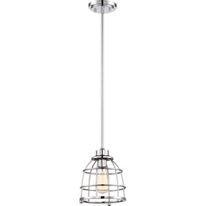 Maxx Polished Nickel One-Light Medium Mini Pendant