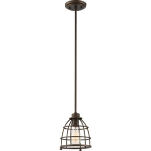 Maxx Mahogany Bronze One-Light Small Mini Pendant