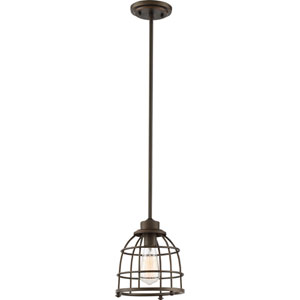 Maxx Mahogany Bronze One-Light Medium Mini Pendant