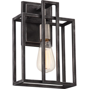 Lake Iron Black with Brushed Nickel Accents One-Light Vanity
