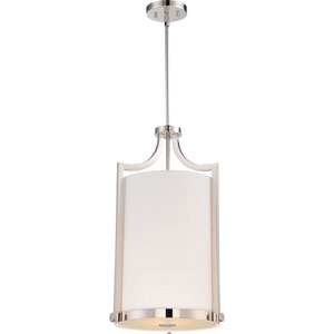 Meadow Polished Nickel Three-Light Chandelier