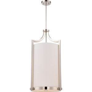 Meadow Polished Nickel Four-Light Chandelier