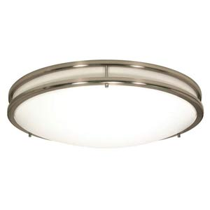 Glamour Large Brushed Nickel Energy Star Flush Mount