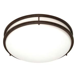 Glamour Small Old Bronze Energy Star Flush Mount
