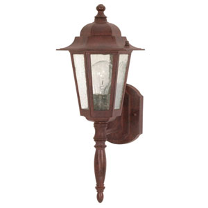 Cornerstone Old Bronze One-Light Outdoor Wall Mount with Clear Seed Glass
