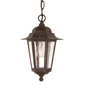 Cornerstone Old Bronze One-Light Outdoor Pendant with Clear Seed Glass
