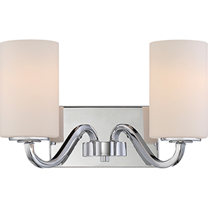 Willow Polished Nickel Two-Light Vanity