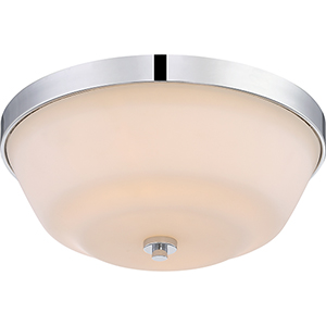 Willow Polished Nickel Two-Light Flush Mount