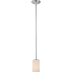Willow Polished Nickel One-Light Mini Pendant