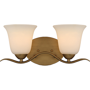 Dillard Natural Brass Two-Light Vanity