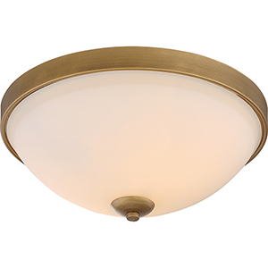 Dillard Natural Brass Two-Light Flush Mount