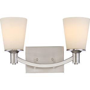 Laguna Brushed Nickel Two-Light Vanity