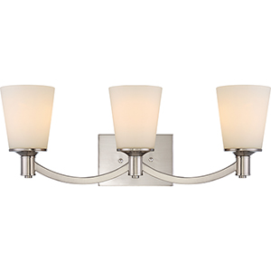 Laguna Brushed Nickel Three-Light Vanity