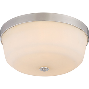 Laguna Brushed Nickel Three-Light Flush Mount