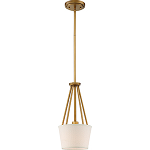 Seneca Natural Brass One-Light Mini Pendant
