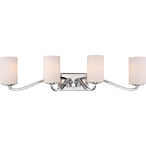 Willow Polished Nickel Four-Light Vanity