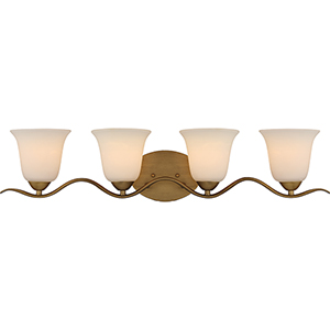 Dillard Natural Brass Four-Light Vanity