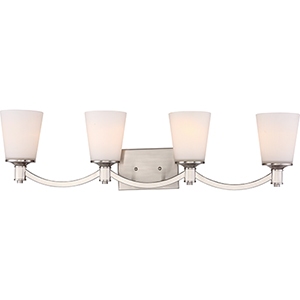 Laguna Brushed Nickel Four-Light Vanity