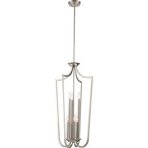 Laguna Brushed Nickel Six-Light Caged Pendant