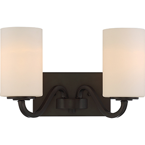 Willow Forest Bronze Two-Light Vanity