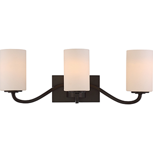 Willow Forest Bronze Three-Light Vanity