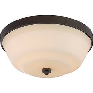 Willow Forest Bronze Two-Light Flush Mount