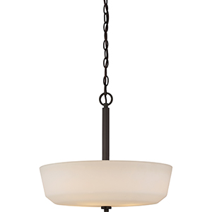 Willow Forest Bronze Four-Light Pendant