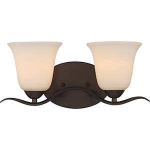 Dillard Forest Bronze Two-Light Vanity