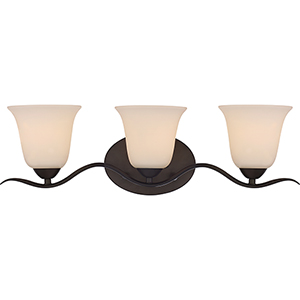 Dillard Forest Bronze Three-Light Vanity