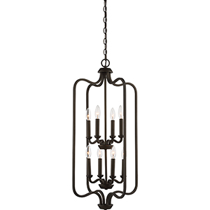 Willow Forest Bronze Eight-Light Pendant