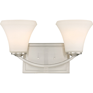 Fawn Brushed Nickel Two-Light Vanity