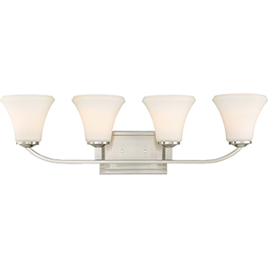 Fawn Brushed Nickel Four-Light Vanity