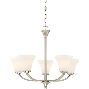 Fawn Brushed Nickel Five-Light Chandelier