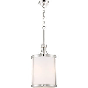 Denver Polished Nickel Three-Light Pendant