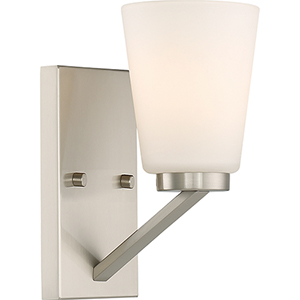 Nome Brushed Nickel One-Light Vanity