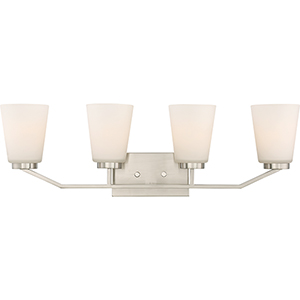 Nome Brushed Nickel Four-Light Vanity