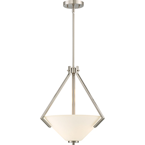 Nome Brushed Nickel Two-Light Pendant